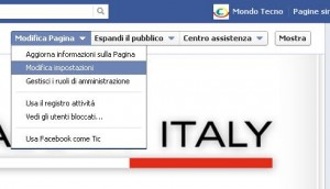 privacy pagina facebook