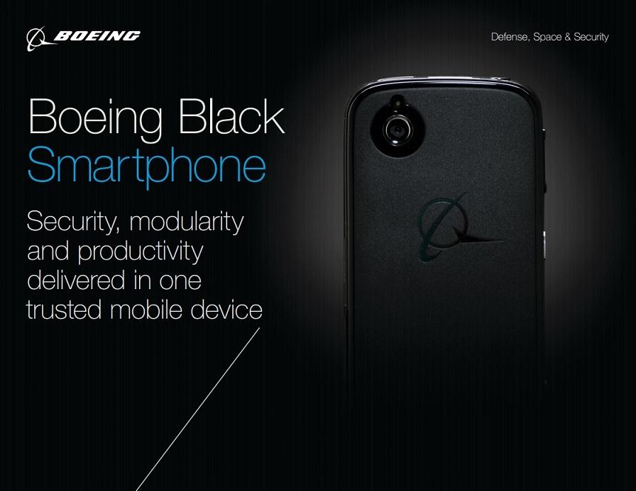 Boeing Black smartphone Android con distruzione dei dati automatica